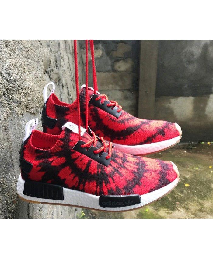 10a6a84c6de0f Adidas NMD R1 Mens Deep Red Black White Shoe