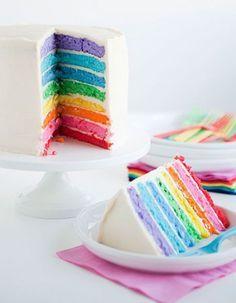 Le « rainbow cake » est un beau gâteau à étages aux couleurs de l'arc-en-ciel. Bluffant sur une table d'anniversaire, il est pourtant très facile à préparer. http://www.elle.fr/Elle-a-Table/Les-dossiers-de-la-redaction/News-de-la-redaction/Comment-faire-un-rainbow-cake-2875430