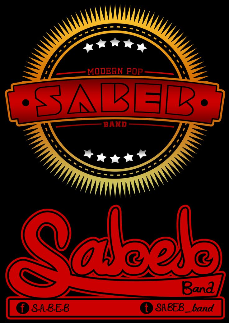 """DESIGN FOR """"S.A.B.E.B band"""" T-SHIRT and STICKER"""