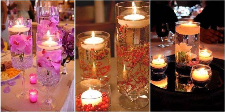 Centros de mesa a partir de velas. ¡Nos encantan!