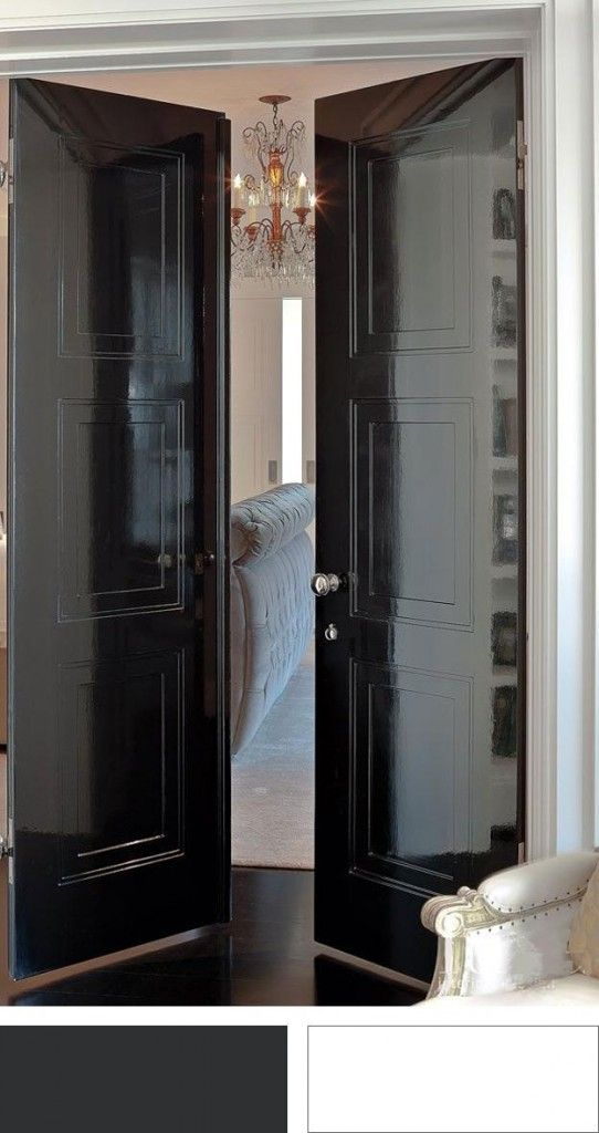 Die besten 25+ Schwarze Innentüren Ideen auf Pinterest Dunkle - design turen glas holz moderne