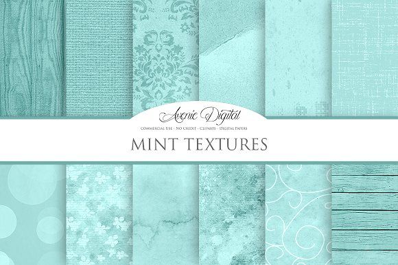 Mint Background Textures by Avenie Digital on @creativemarket