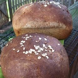 Whole wheat bread is jazzed up with flax seed, sunflower seed, and oatmeal to create something truly unique. This is a recipe I formulated for my dear son while he was fighting cancer.