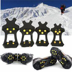 #Banggood Обувь сапоги противоскользящие безопасности захваты лед утки кошками шип на лыжах езда Открытый (1042153) #SuperDeals