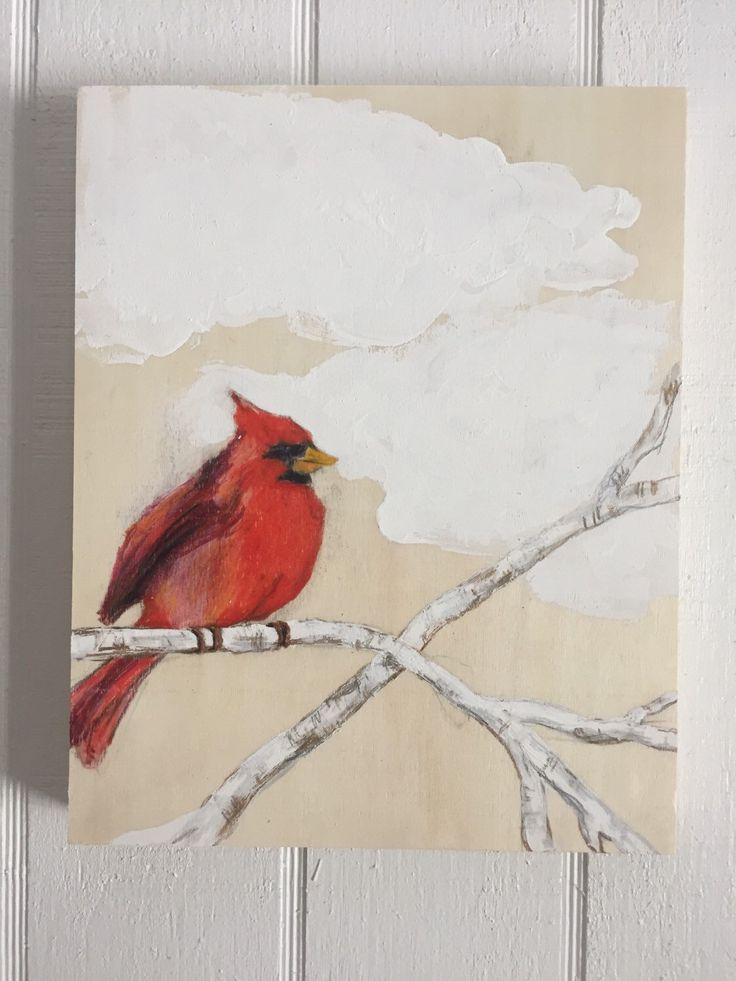 Cardinal by muralsbyshauna on Etsy https://www.etsy.com/listing/267928584/cardinal