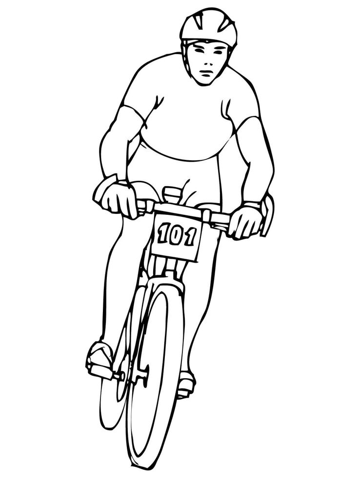 Following The Cycling Race