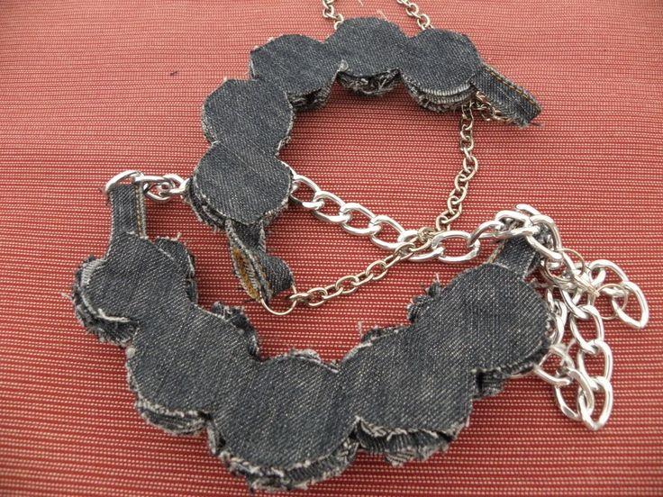 Collares de tela y piedras manualidades buscar con - Manualidades con piedras de playa ...