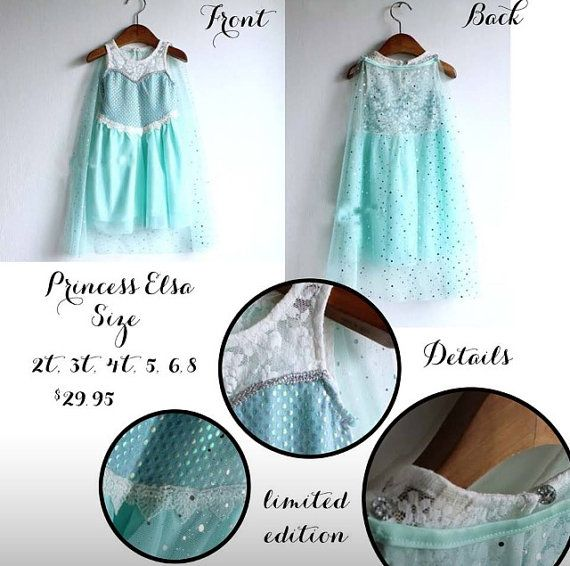 Cinderella Princess Character Dress Child 3t 4t 5 6 7: Frozen Elsa Princess Dress Size 2t 3t 4t 5 6 7 8 Costume
