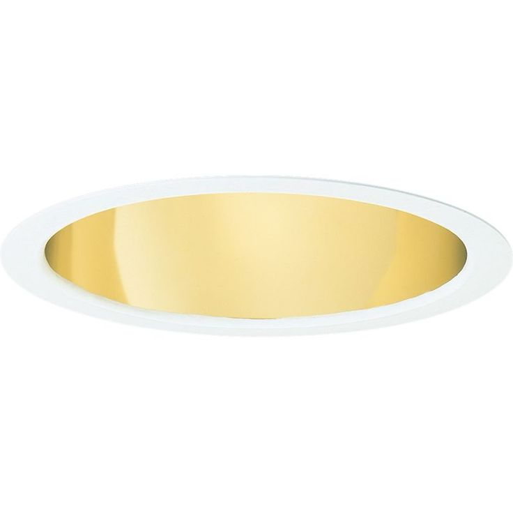 "Progress Lighting P8120-LED-4000K-WF 8"" Pro-Optic LED Recessed Trim - Reflector Gold Alzak Recessed Lights Recessed Trims Reflector"