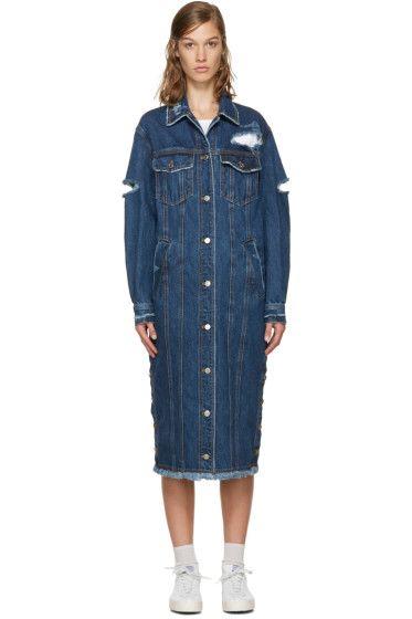 SJYP - Indigo Длинные джинсовые куртки