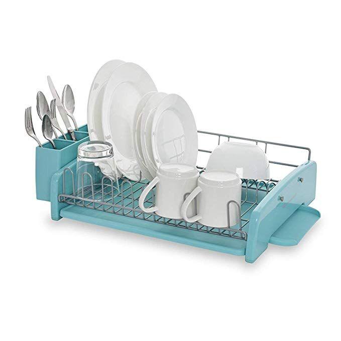 Kitchenaid 3 Piece Dish Rack Aqua Sky Kitchen Aid Dish Racks