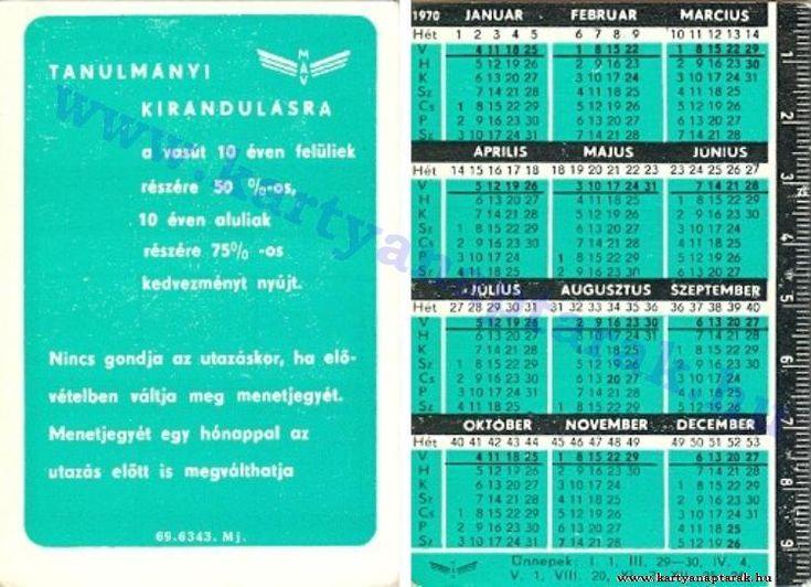 1970 - 1970_0452 - Régi magyar kártyanaptárak