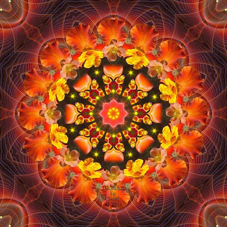 ☮ American Hippie Bohéme Boho Mandala Art ☮