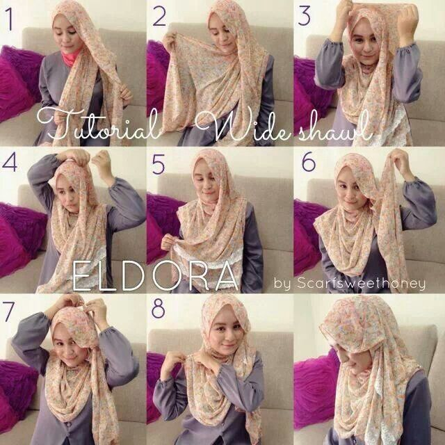 Malaysian Hijab (Tudung) tutorial by Scarf Sweet Honey