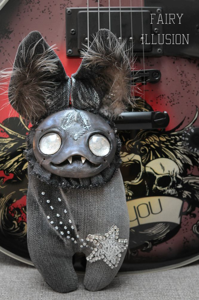 star. Cute and crazy monster doll, a fairy creature from Fairy-Illusion. Handmade, author's doll.