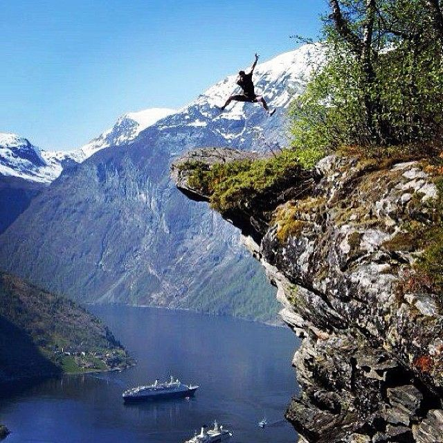 The Geirangerfjorden is a fjord in the Sunnmøre region of ...
