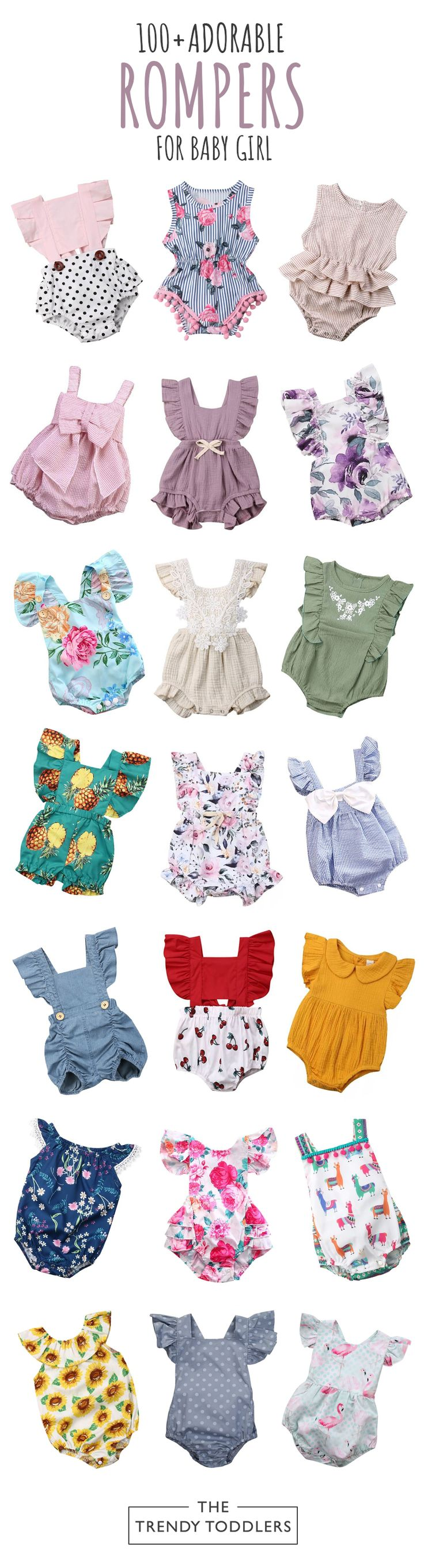UP TO 70% OFF + FREE SHIPPING! Shop our entire collection of baby girl rompers a... 1
