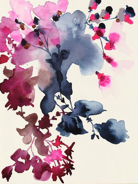 Jen Garrido: Indigo Rock 24, 2014, mixed media on paper, 10 x 7.5