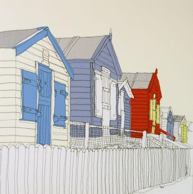Westward Ho Beach Huts - Gillian Bates by gillian.bates, via Flickr