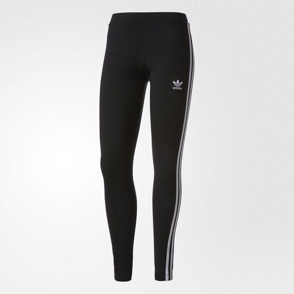adidas 3-Stripes Leggings - Black   adidas UK ($31) ❤ liked on Polyvore featuring pants, leggings, adidas, adidas trousers, striped leggings, stripe leggings, stripe pants and legging pants