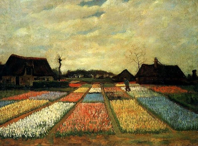 Vincent Van Gogh >> Flower Beds in Holland [1883]