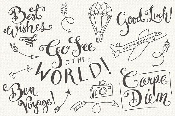 Travel Overlays - Vector & PSD by The Pen & Brush on @creativemarket