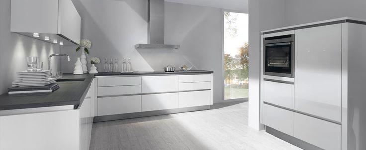 Saffier optima greeploos, een van de Design keukens, L-opstelling, Optima keukens van Bruynzeel
