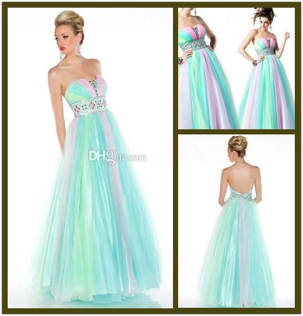 17 Best ideas about Rainbow Prom Dress on Pinterest | Pretty ...