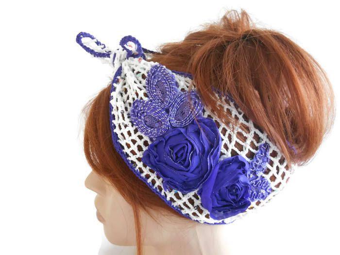 Summer Head band, Women Headband, crochet Headband, White Headband, Women's Headband, Gypsy Headband, Turban Headband, Knitted Headband by MimosaKnitting on Etsy