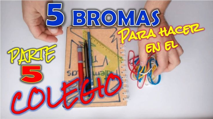 5 bromas fáciles para hacer en el Colegio | Parte 5 - 5 Easy Jokes to Do in College | Part 5 #bromas #pranks #jokes #funny   I teach you how to do 5 easy and fun jokes to trollear your friends at school. Subscribe: http://goo.gl/Cf2GMK  The best jokes to do and have fun with your family and friends !!!  If you liked SHARE it, give LIKE and do not forget to SUBSCRIBE. Share it with your friends.  Subscribe: http://goo.gl/Cf2GMK  Do not forget to follow us on: Twitter: https://twitter #bromas…