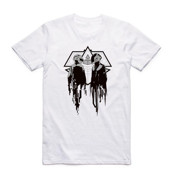Asian Size Men Women Printing Duo DJ Techno Music Daft Punk T shirt Summer Casual O. Click visit to buy #T-Shirts