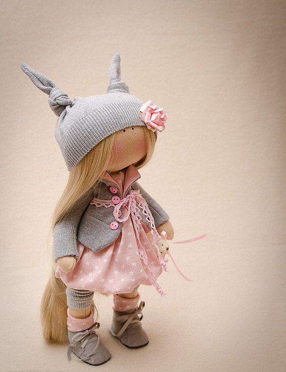 Susie Doll-Handmade Doll-Textile Doll-Fabric Doll-Rag Doll-Home Decoration-Handmade Toy