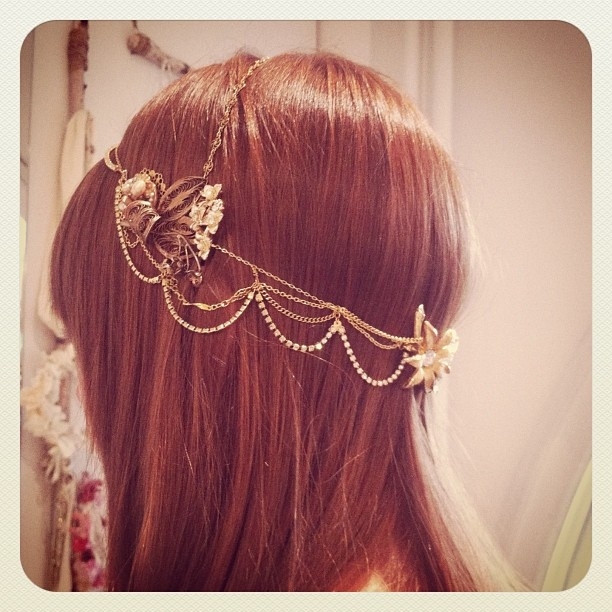 there's a ton of metal chain headpieces on etsy