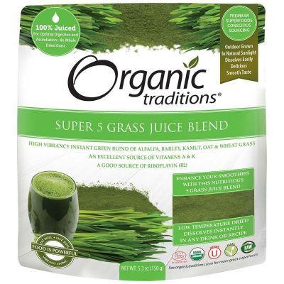 Organic Super 5 Grass Juice Blend