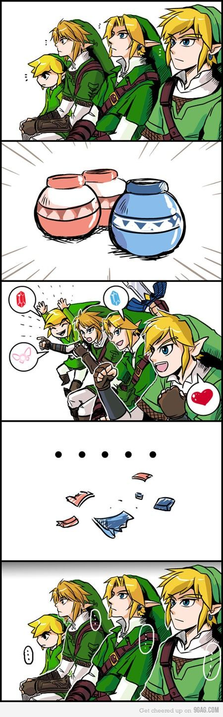 4 Link and 3 Pot (XxX) #TheLegendOfZelda #Nintendo #Link