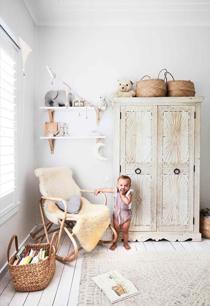 An All White Fibro Beach Shack With Scandi Style Toddler Bedroom Decor Scandi Nursery Girl Boho Style Nursery