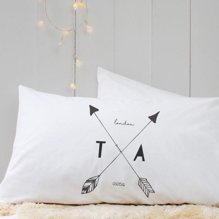 Personalised \u0027Arrow Initial\u0027 Pillow Case & 32 best Personalised Pillow Case images on Pinterest | Pillow ... pillowsntoast.com