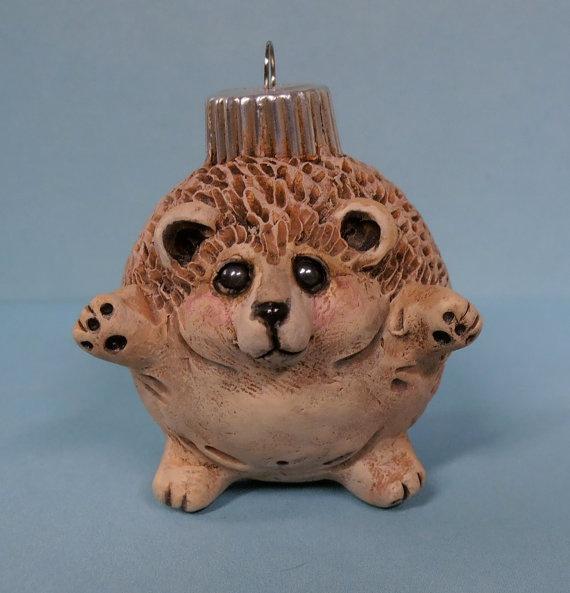 Heidi the Hedgehog ornament bt darbella designs by darbelladesigns, $28.00