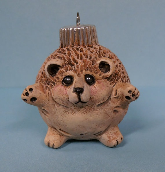 Heidi the Hedgehog ornament bt darbella designs by darbelladesigns, $28.00