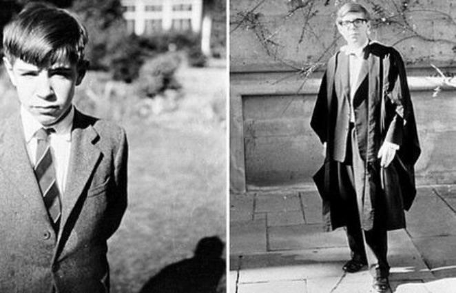Стивен Хокинг в детстве и молодости