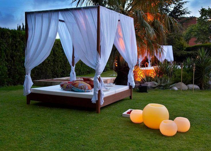 14 best jard n camas balinesas images on pinterest for Cama balinesa jardin