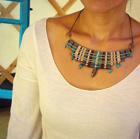 Goddess necklace  cavandoli macrame by MammaEarthCreations on Etsy, $100.00