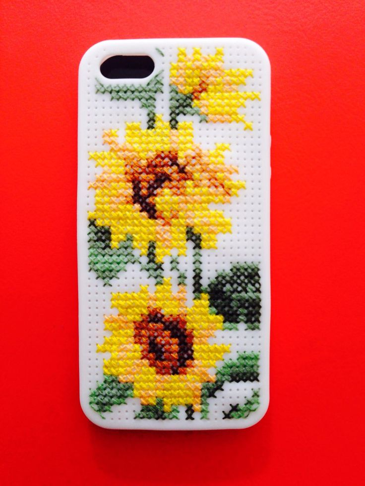Cross stitched/embroidered iPhone case by Louisa Hammond
