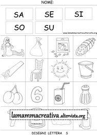 Disegni parole con lettera S