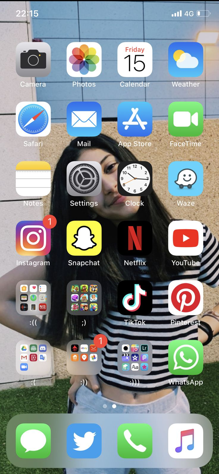 Aesthetic iPhone organization home screen 💋 in 2020