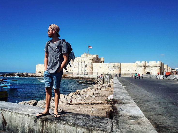 The Citadel of Qaitbay was a  defensive fortress built in 1477 AD on the Pharos Island on the Mediterranean sea coast, in Alexandria, Egypt. ���� . Photo Credit ��: @samiracastro �� . #egypt #alexandria #travelling #travel #aussie #adventure #explore #bucketlist #africa #wonderlust #traveller #adventures #citadel #mediterranean #sea #beautiful #student #beauty #ocean #architecture #summer #like4like #like4follow #follow #follow4follow #lovethis #picoftheday #backpacking #world…