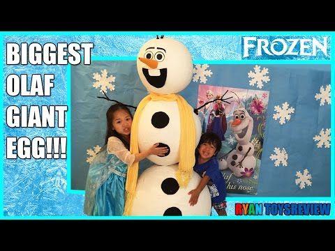 GIANT EGG SURPRISE OLAF WORLD BIGGEST Disney Frozen Videos Elsa Anna Toys Let it Go Ryan ToysReview - http://insurancequindio.info/giant-egg-surprise-olaf-world-biggest-disney-frozen-videos-elsa-anna-toys-let-it-go-ryan-toysreview/