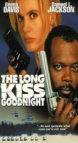 The Long Kiss Goodnight   1996 Awesomely great action packed! A must watch movie. Get your snacks ready.