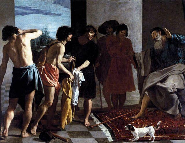 Παρουσίαση των ματωμένων  ρούχων του Ιακώβ  στον Ιωσήφ (1630)
