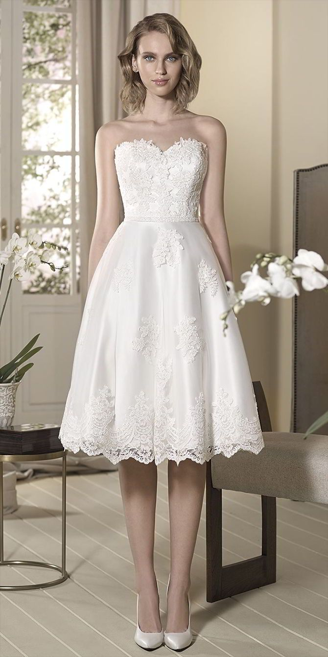 213 best Short & Tea Length Wedding Dresses images on Pinterest